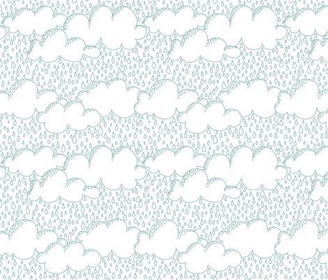 Vancouver Rain White fabric by curious_nook on Spoonflower - custom fabric