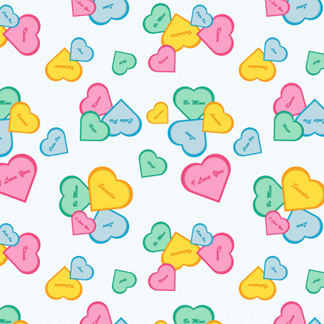 Hearts on Blue fabric by designtrends on Spoonflower - custom fabric
