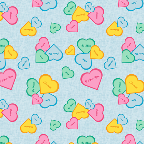 Valentines - blue fabric by designtrends on Spoonflower - custom fabric