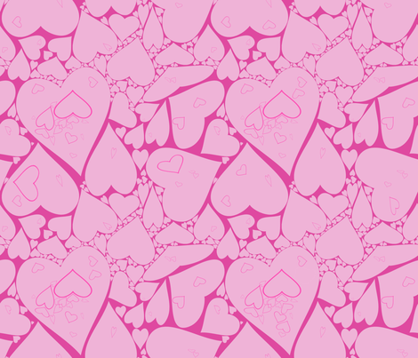 Valentines fabric by annekul on Spoonflower - custom fabric