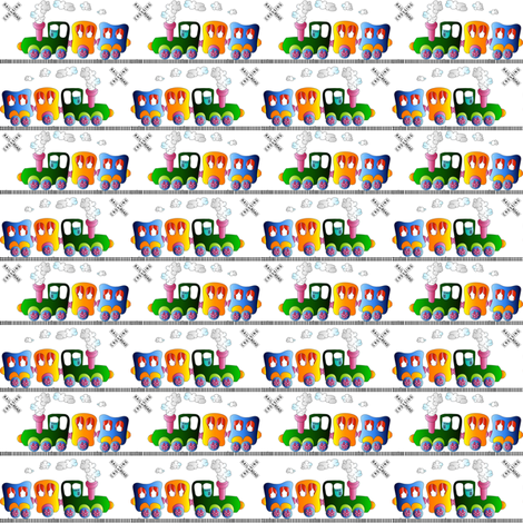 trains fabric by krs_expressions on Spoonflower - custom fabric