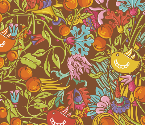 Vintage floral seamless pattern fabric by tomuato on Spoonflower - custom fabric