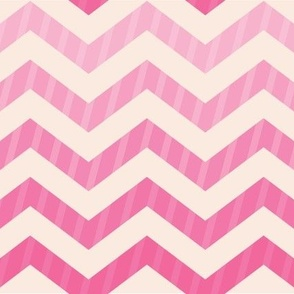 Tickle Me Pink Chevron