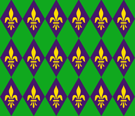 A Mardi Gras time fabric by paragonstudios on Spoonflower - custom fabric