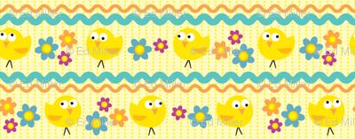 Chicks & Flowers Yellow