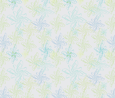 FlowerPrintTwistCoolGray fabric by roxanne_lasky on Spoonflower - custom fabric