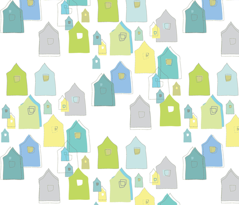 HousesCoolsSmall fabric by roxanne_lasky on Spoonflower - custom fabric