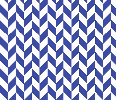 Small Blue-White Herringbone fabric by megankaydesign on Spoonflower - custom fabric