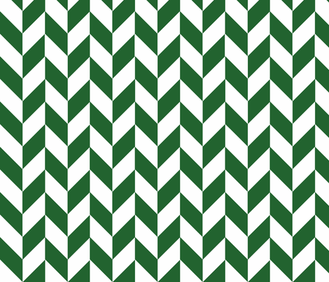 Small Green-White Herringbone fabric by megankaydesign on Spoonflower - custom fabric