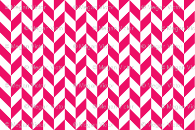 Small Pink-White Herringbone