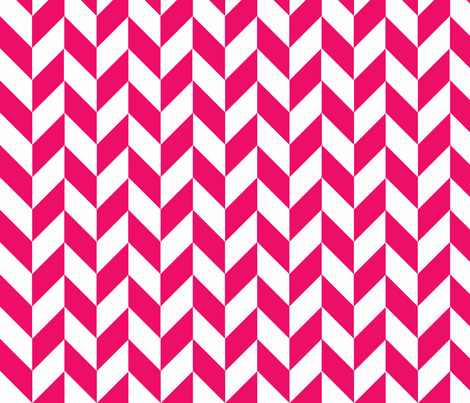 Small Pink-White Herringbone fabric by megankaydesign on Spoonflower - custom fabric