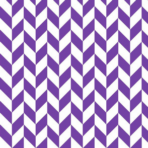 Small Purple-White Herringbone