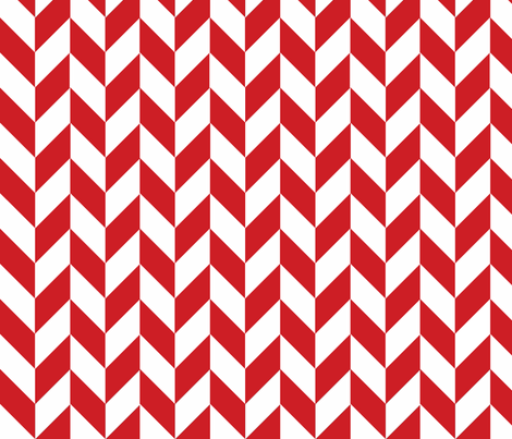 Small Red-White Herringbone