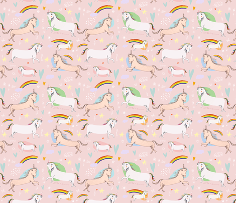 Unicorns RULE fabric by nicolaclare on Spoonflower - custom fabric