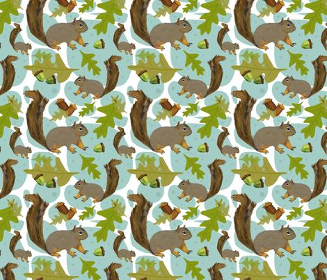 Woodland squirrels fabric by nicolaclare on Spoonflower - custom fabric