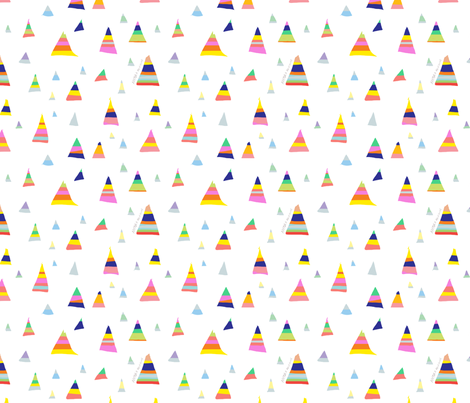 Aztec candy fabric by nicolaclare on Spoonflower - custom fabric