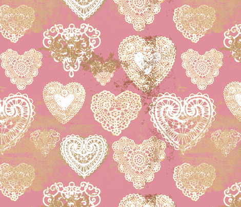 falling in love fabric by zsonzsy on Spoonflower - custom fabric
