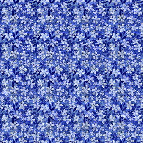 Denim floral fabric by joanmclemore on Spoonflower - custom fabric