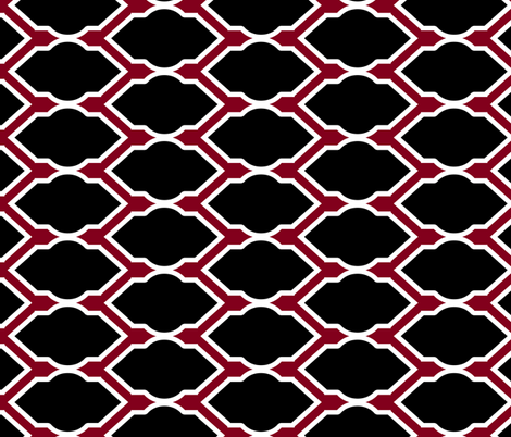 Black, Red, and White Tile