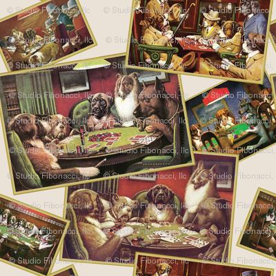 Dogs Playing Poker