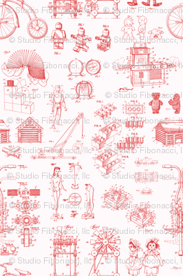 Patent Drawings - Toys (red)