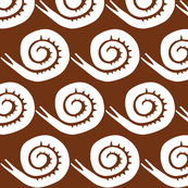 snails in brown