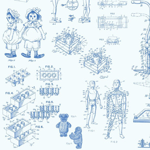 Patent Drawings - Toys (blue) - paper