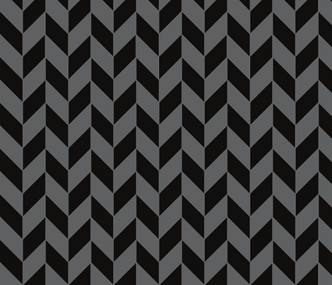 Small Black and Gray Herringbone