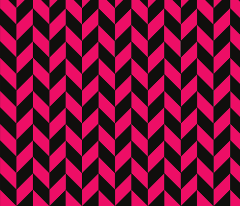 Small Black and Pink Herringbone fabric by megankaydesign on Spoonflower - custom fabric