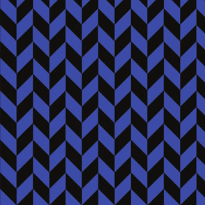 Small Blue and Black Herringbone