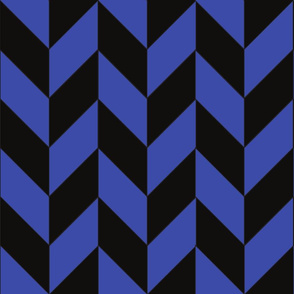 Blue and Black Herringbone