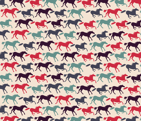 wild horses - multi fabric by babysisterrae on Spoonflower - custom fabric