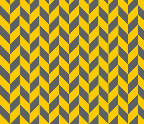 Small Gray and Yellow Herringbone fabric by megankaydesign on Spoonflower - custom fabric