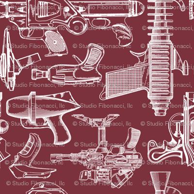 Ray Gun Revival (Maroon) (8x8)