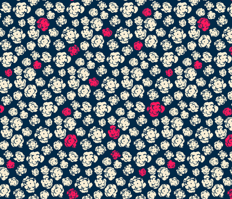 Firework Popcorn Flower Explosions.  fabric by ben_goetting on Spoonflower - custom fabric