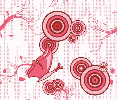 Swirly Butterfly (Red) fabric by studiofibonacci on Spoonflower - custom fabric