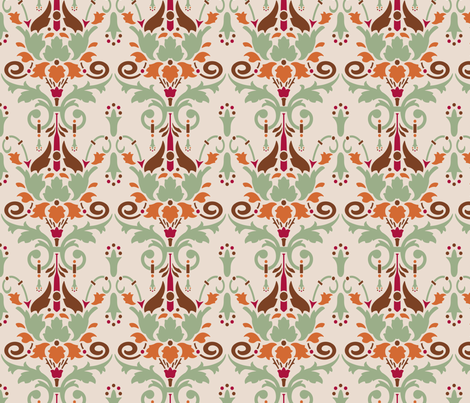 Victoriana fabric by studiofibonacci on Spoonflower - custom fabric