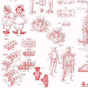 Patent Drawings - Toys (red) - paper