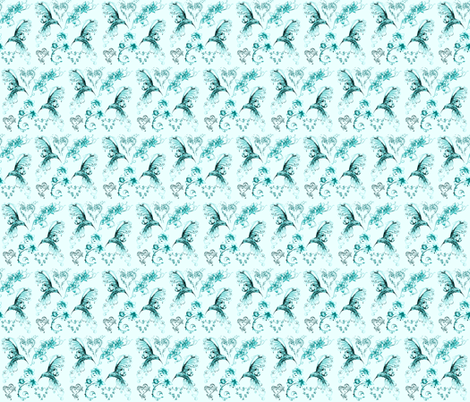 hummingbirds fabric by krs_expressions on Spoonflower - custom fabric