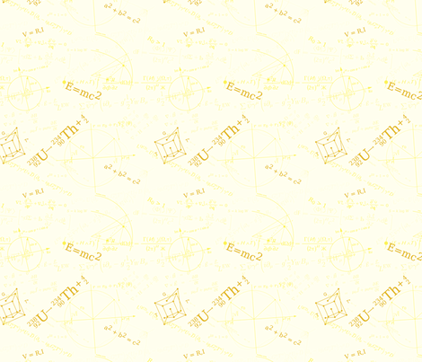 Equations (Yellow) fabric by studiofibonacci on Spoonflower - custom fabric