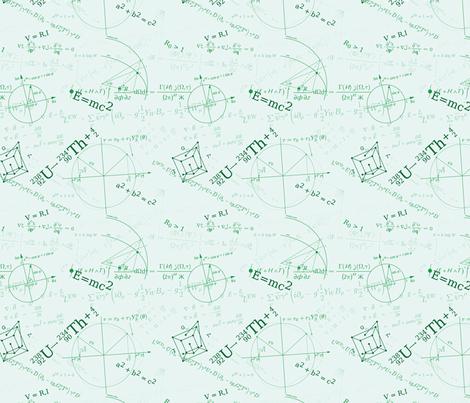 Equations (Green) fabric by studiofibonacci on Spoonflower - custom fabric