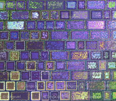 Purple Faux Brick Abstract © Gingezel™ 2013