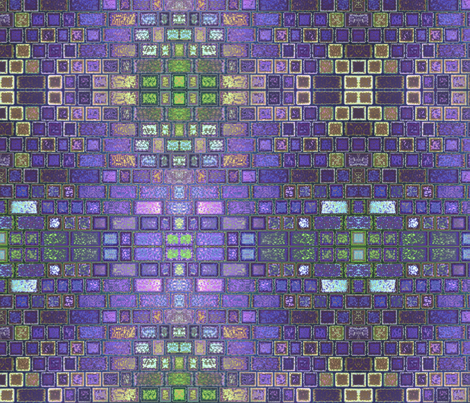 Purple Faux Brick Abstract © Gingezel™ 2013 fabric by gingezel on Spoonflower - custom fabric