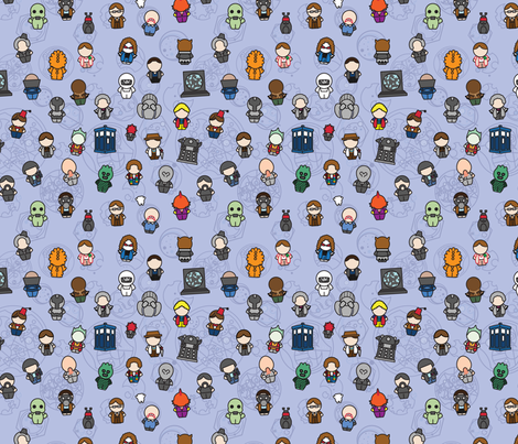 Doctors Monsters Friends fabric by studiofibonacci on Spoonflower - custom fabric