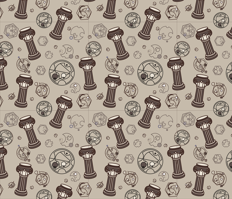 The Chameleon Circuit Works fabric by studiofibonacci on Spoonflower - custom fabric