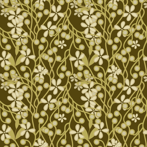 Wildwood in moss green  fabric by joanmclemore on Spoonflower - custom fabric