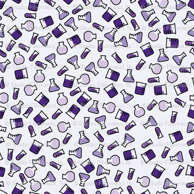 Ditsy Chemistry - Purple