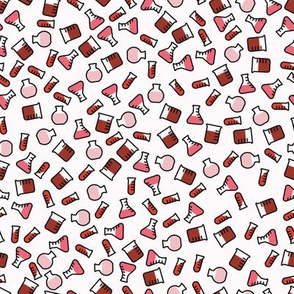 Ditsy Chemistry - Red