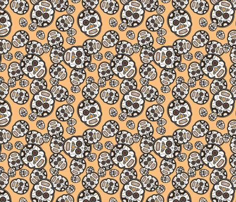 Sugar Skulls - Marigold fabric by studiofibonacci on Spoonflower - custom fabric