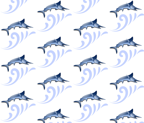 MARLIN SURF fabric by bluevelvet on Spoonflower - custom fabric